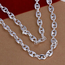 XMAS Wholesale sterling solid silver chic jewelry charm chain necklace BN619+box