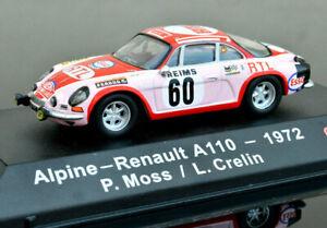 RENAULT ALPINE A110 1972 1:43 Scale Car Model Metal Miniature