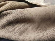HAZEL WOOD  hair on shearling backside printed embossed lambskin hide  pelt