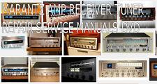 MARANTZ AMP AMPLIFIER RECEIVER TUNER VINTAGE REPAIR SERVICE MANUALS DVD