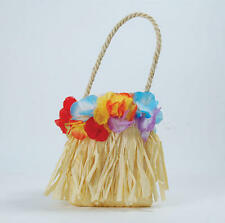 Hawaiian Style Handbag With Flowers Hula Girl Tropical Beach Party Fancy Dress