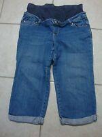 Womens OLD NAVY MATERNITY full panel waist stretch jean capri pants, M