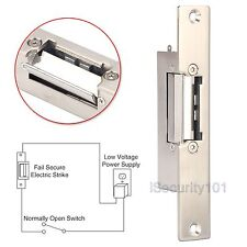 Electric Strike Door Lock 12V Short Narrow-type European Style NO Fail Security