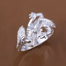 Fashion 925Sterling Silver Solid Silver Dragon Strong Men Open Up Ring YR054