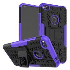 Carcasa Híbrida 2teilig Exterior Púrpura para Huawei P8 Lite 2017 Bolsa Funda