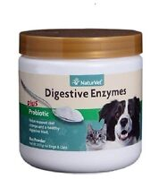 Naturvet Digestive Enzymes Powder Prebiotics & Probiotics for Dog Cat PICK SIZE