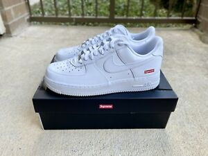 Nike Air Force 1 Low Supreme White - Mens US Size 9.5