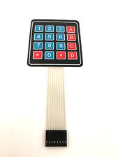 16key 4x4 Membran Keypad Keyboard TastaturMatrix 8pin STM32 with self adhensive.