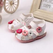 Toddler Kids Baby Girl LED Luminous Sandals Soft Leather Summer Shoes Sneakers T