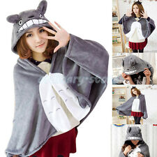 Cute Girl Adult Kid Clothes Totoro Shawl Cloak Air Conditioning Blanket Clothing