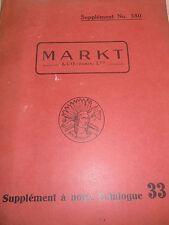 Catalogue outillages - cadenas - divers - Markt année 1933