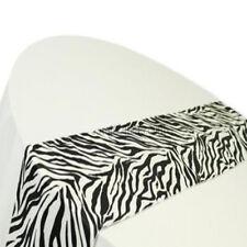 "50 Flocking Zebra Table Runners 12"" x 108"" Flocked Taffeta TableRunners Made USA"