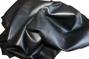 Italian Lambskin leather 6 HIDES VERY SOFT  BLACK total  40sqf