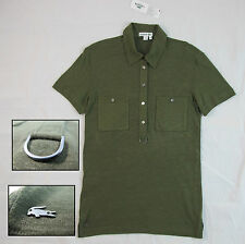 Lacoste Women's Olive Green Light Polo Sz. 42/10 $135 DF1076 BNWT 100% Authentic