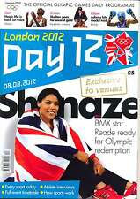 OLYMPIC GAMES DAY 12 TWELVE DAILY PROGRAMME LONDON 2012
