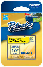 NEW Brother MK631 Black on Yellow P-touch Tape for PT85, PT-85, ptouch MK-631