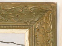 vintage antique style wooden painting frame picture photograph ornate scroll