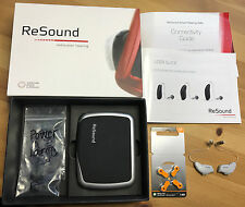 2 Gn ReSound LiNX2 9 (LS962-DRW) RIC BTE Hearing Aids with Domes and Accessories