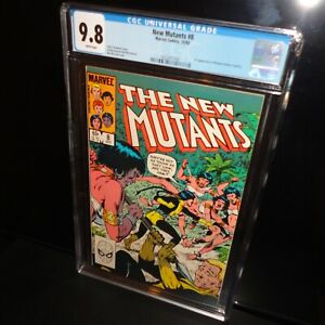 The New Mutants #8 CGC 9.8 White Pages 1983 Marvel 1st Appearance of Magma