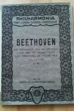 Beethoven die geschöpfe des prometheus ouverture taschenpartitur