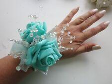Poignet Corsage Mariage Prom Croisière *** Ivoire /& rose poudré /& ARGENT ***