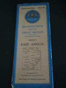 1946 Ordnance Survey Quarter-Inch Map of Great Britain East Anglia
