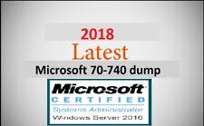 Microsoft MCSA 2016 70-740 dump latest questions (1 month warranty)