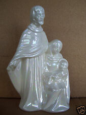"Hp #83 Christmas Mary Joseph & Baby Jesus 9.5"" Nativity Porcelain Figurine"