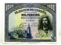 Spain-Billete. Fernando III. 1000 Pesetas 1928. Madrid. SC-/UNC-. Escaso.