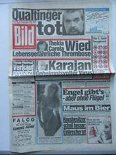 Bild Zeitung 30.9.1986, Qualtinger, Thekla Carola Wied, zum 30. Geburtstag
