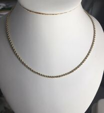 "10k Yellow Gold Rope Chain 18"" Long 2.5 Grams"