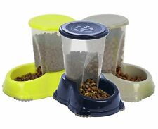 Gravity Pet Feeder 1.5L Cat Dog Kitten Dry Food Bowl Automatic Dispenser Feed UK