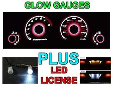 TYPE-R 2001-2002 Honda Civic with Tach Auto RED Glow Gauges + LED License Bulbs