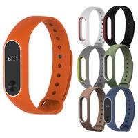 Fashion Silicon Wrist Strap WristBand Bracelet Replacement For XIAOMI MI Band 2