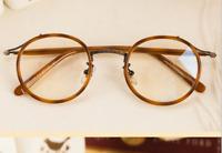 Round vintage Retro Mens Eyeglasses Frames womens loop optical RX glasses frame