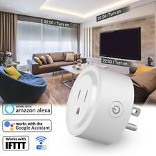 Mini WiFi Smart Plug Timer Switch US Socket Outlet Alexa Google Home App Control