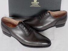 Nuevo Crockett Jones Acton gris de piel de becerro con Cordones Zapatos Uk 7.5 e RRP £ 425 Rara