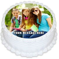 Round Edible Icing Cake Topper with your own Photo
