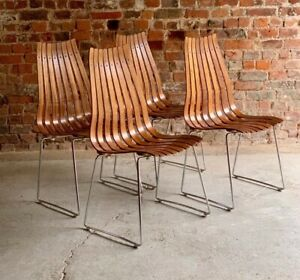 Hans Brattrud Rosewood Scandia Dining Chairs By Hove Mobler Set of Four C.1965