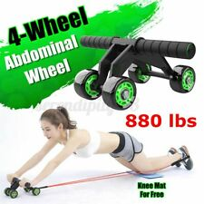 4 Wheels Abs Abdominal Roller Workout Exercise Fitness Equipment