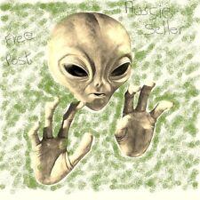 Australian Seller - Alien Face & Hands Wall Sculpture Extraterrestrial Mask