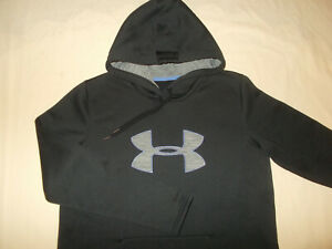 UNDER ARMOUR STORM 1 BLACK HOODED SWEATSHIRT WOMENS LARGE EXCELLENT CONDITION