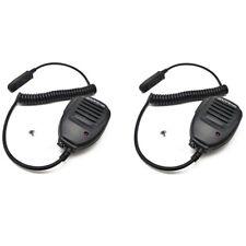 2X Baofeng Impermeable Altavoz Micrófono UV-9R Plus BF-9700 Walkie Talkie Radios