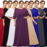 Plus Size Women's Sexy Off Shoulder Dresses Ladies Summer Fashion Evening Dress