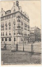 CGH: EDVII Postcard, Rhodes Building, Corner of St Georges & Wale Streets, 1905