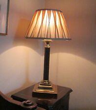 Antique Brass with Black Fluted Column/Greek Pillar Table/Bedside Lamp Base