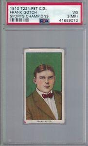 1910 Pet Mouthpiece Cigarettes FRANK GOTCH Wrestling Card PSA 3 MK HOF