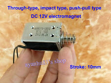 DC 12V 10.8W Push Pull Type Electric Magnet Mini Solenoid Actuator Electromagnet