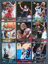 2004-05 Upper Deck Basketball 200 Base Card Set Kobe LeBron Iverson Shaq No RC's