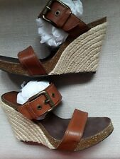 DONALD J PLINER~GHITA~SIZE 9~LEATHER~CORK~ROPE SANDALS~MADE IN SPAIN~PERFECTO!